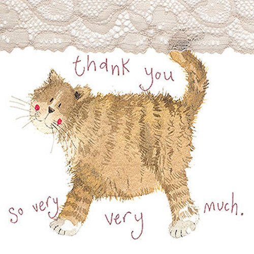 Thank You Little Sparkle Cat Card