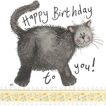 Little Treacle Cat Little Sparkle Birthday Card