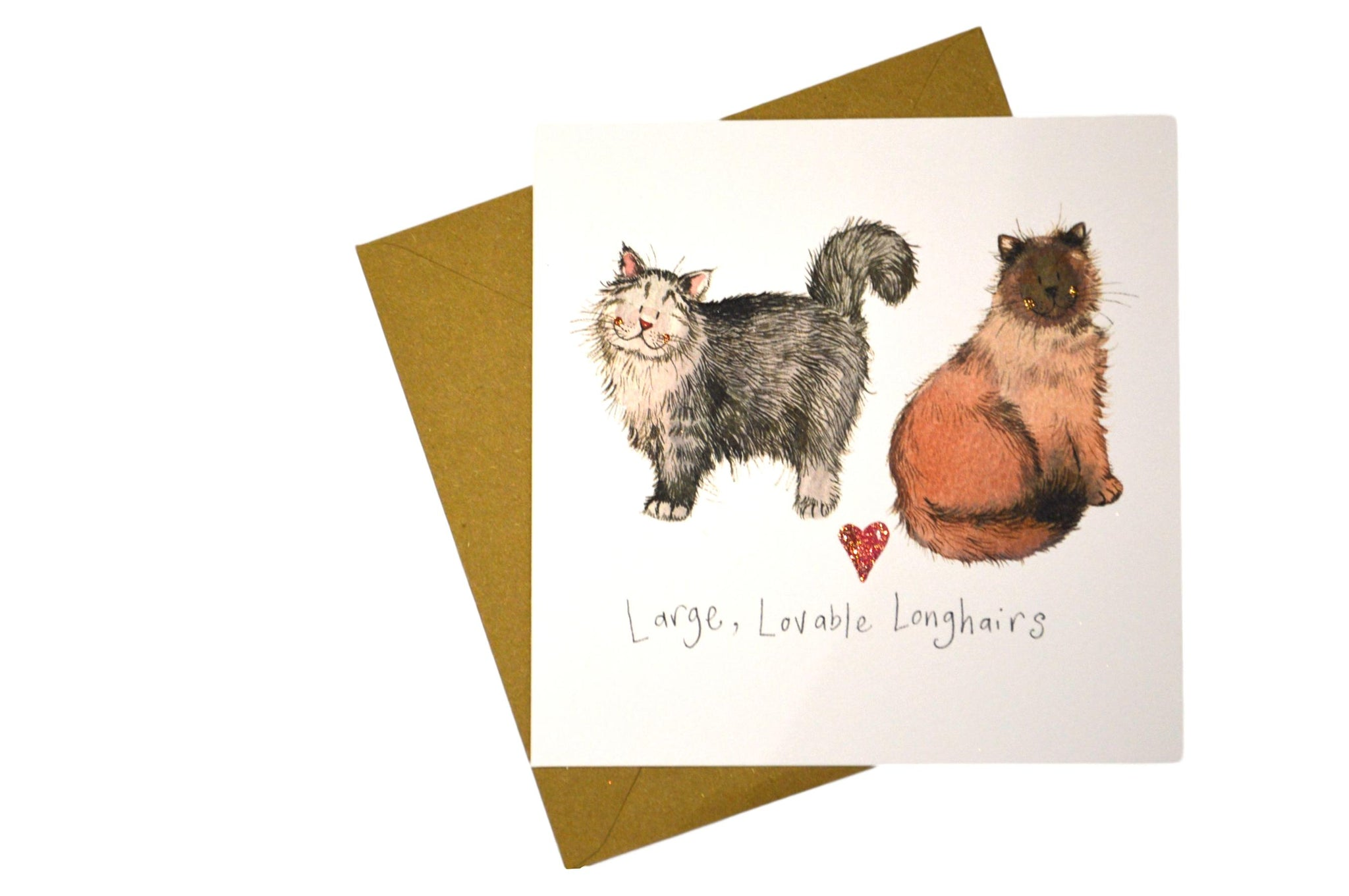 Large, Lovable Longhairs Greeting Card