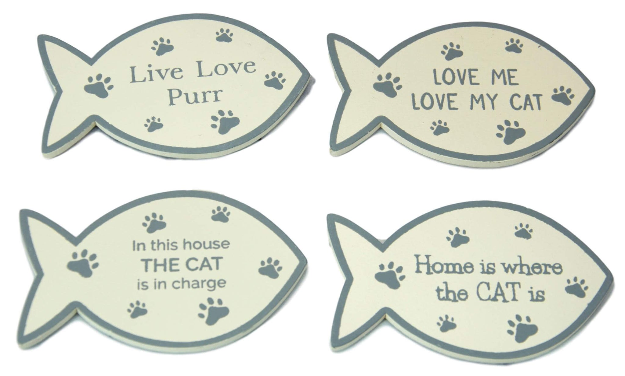 Set of 4 Fish Shape Cat Magnets