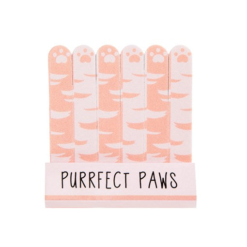 Cutie Cat Set of 6 Mini Nail Files