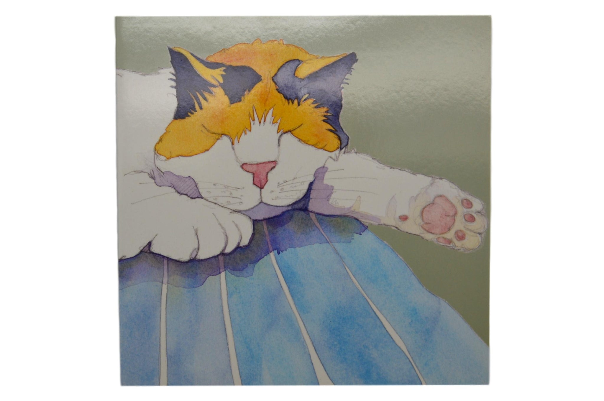 Alfie Cat Watercolour Greetings Card