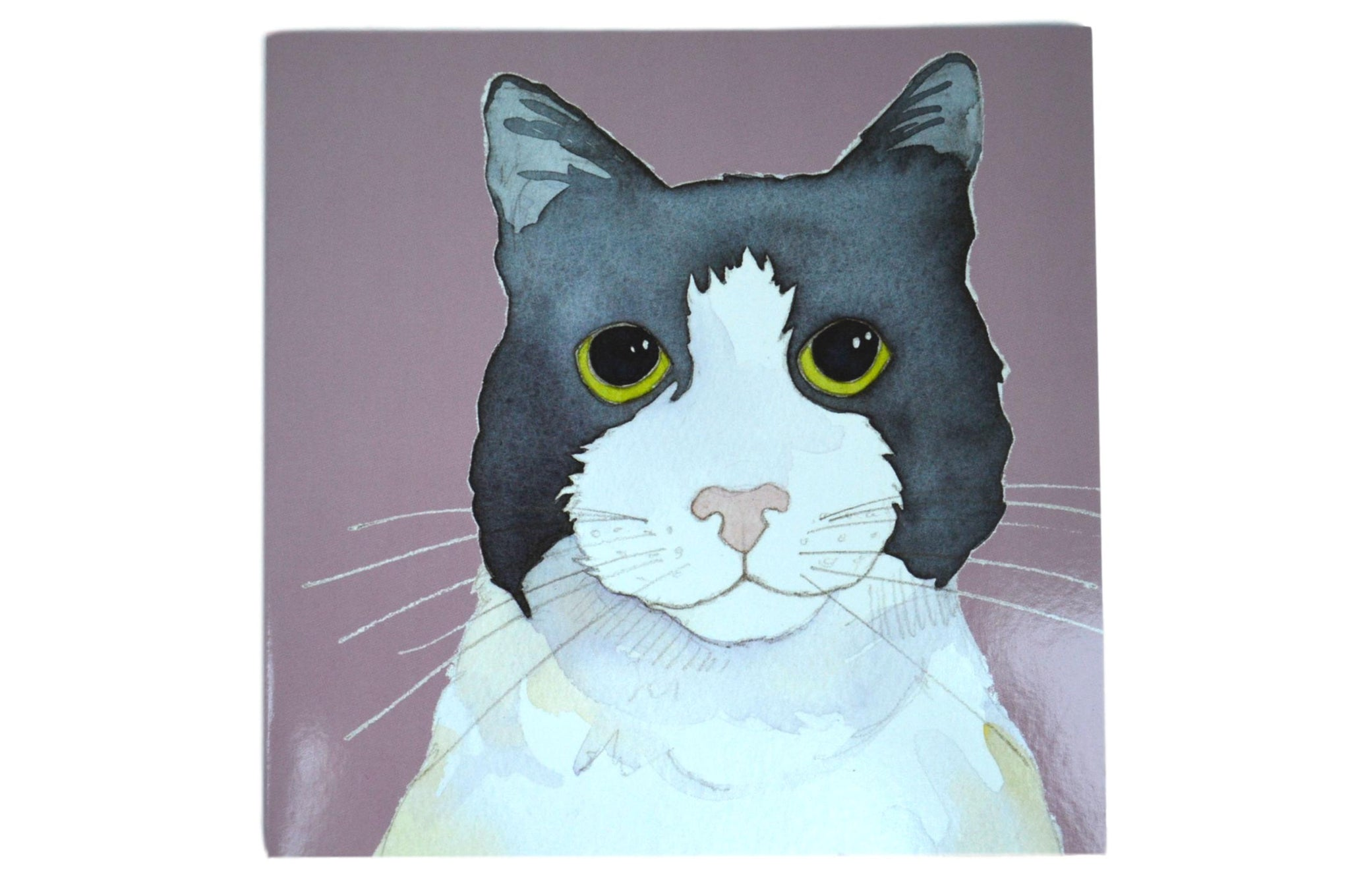 Charlie Cat Watercolour Greetings Card