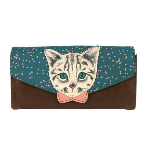 Meow Spotty Cat Design Purse