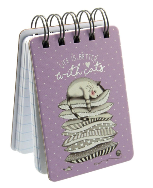 Life is Better with Cats Mini Notebook