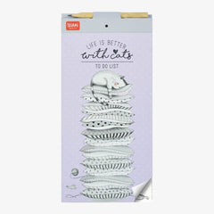 Life is Better with Cats Magnetic Notepad