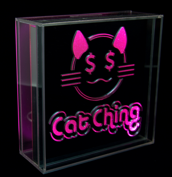 Locomocean GlowVault Neon Glow In the Dark Cat Ching Cat Money Box