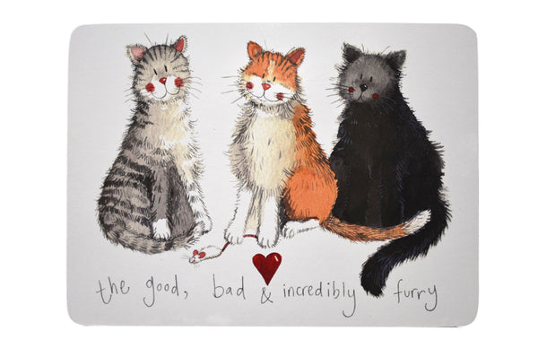 The Good, Bad & Incredibly Furry Cat Placemat