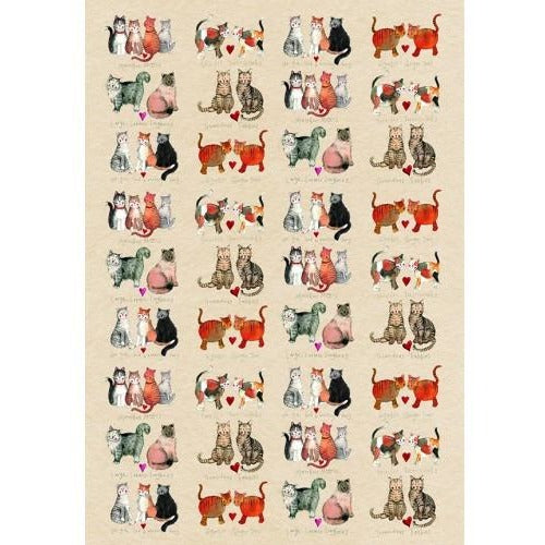 Marvellous Moggies Tea Towel
