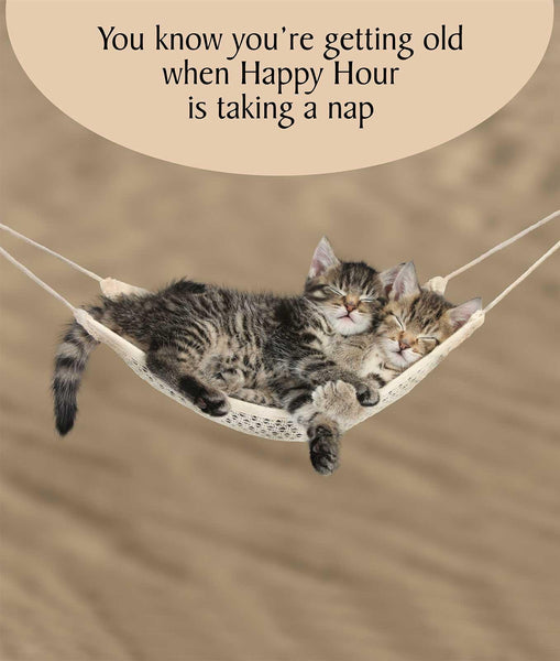 Happy Hour is Taking a Nap Cat Birthday Card
