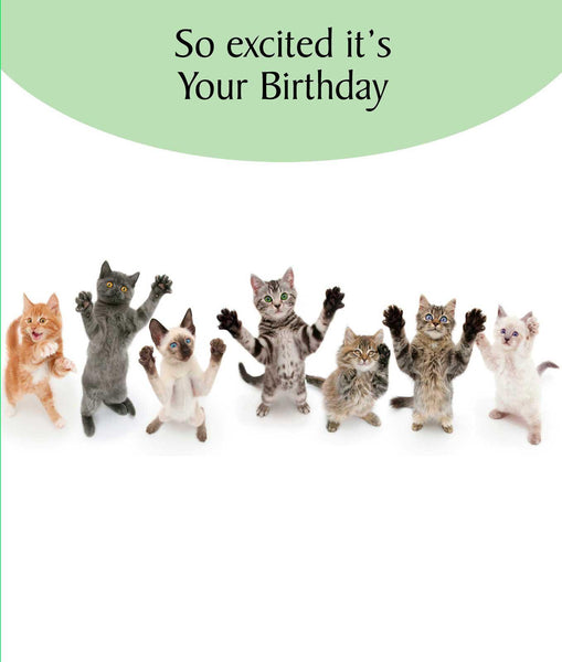 So Excited Birthday Card
