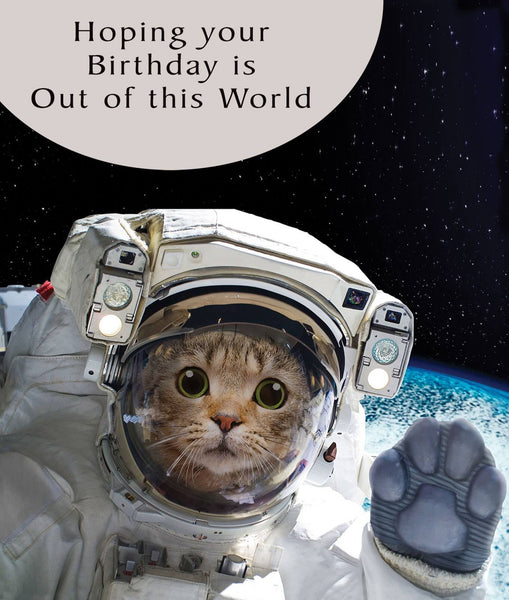 Astrocat Birthday Cat Card