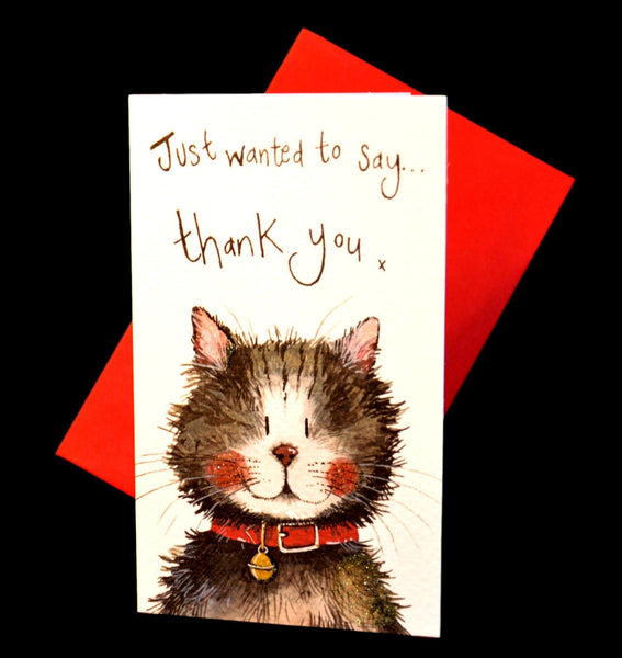 Klaus Cat Pack of 5 Thank You Cards