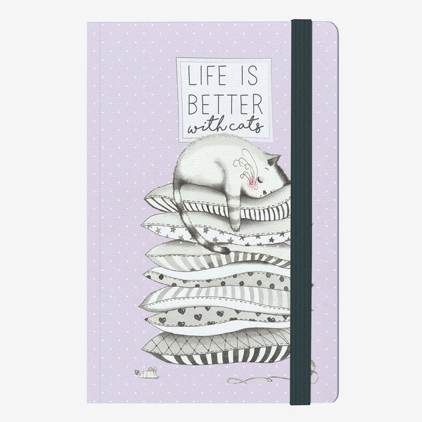 Life is Better with Cats Medium Notebook