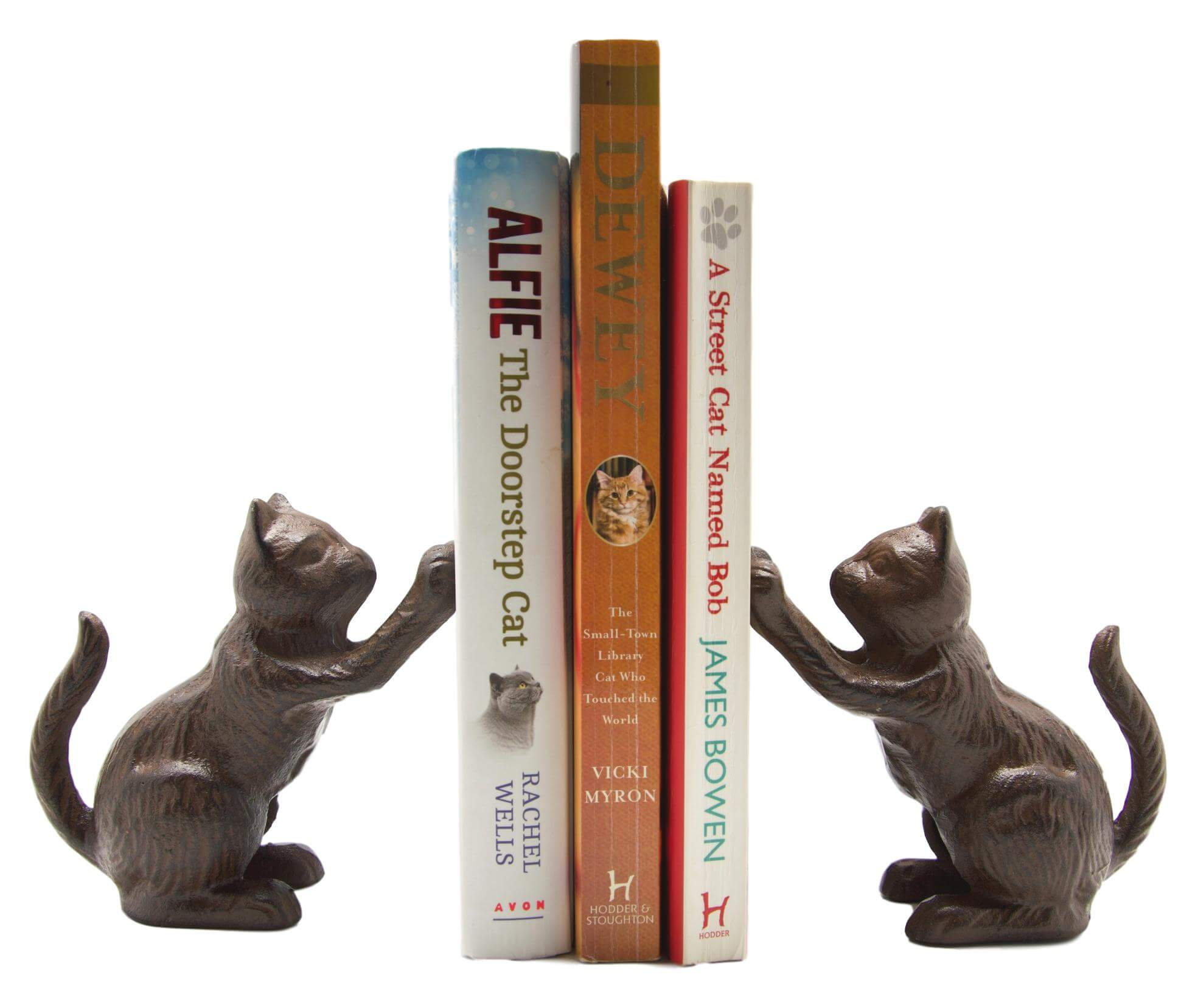 Cast Iron Cat Book Ends