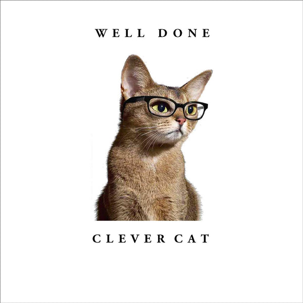 Well Done Clever Cat Greeting Card