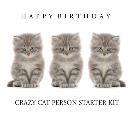 Cat Person Starter Kit Birthday Card