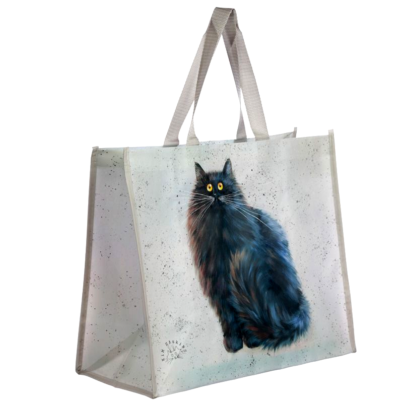 Kim Haskins Herman Black Cat Shopping Tote Bag