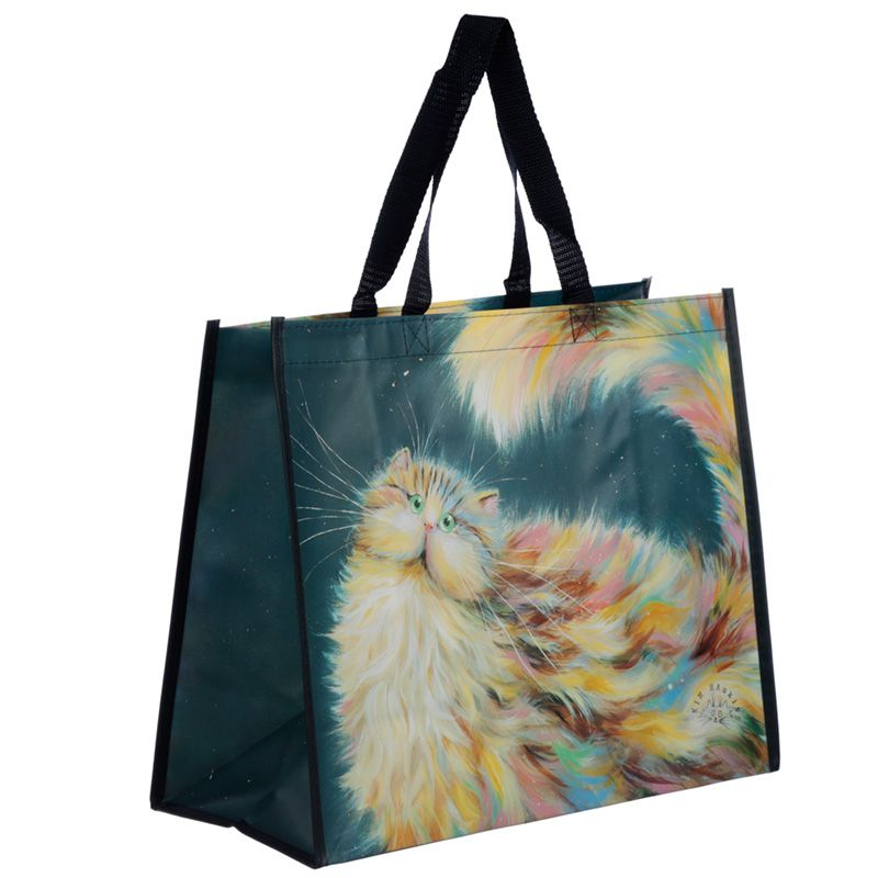 Kim Haskins Patapoufette Rainbow Cat Shopping Tote Bag