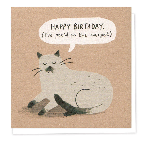 'Naughty Siamese' Cat Birthday Card