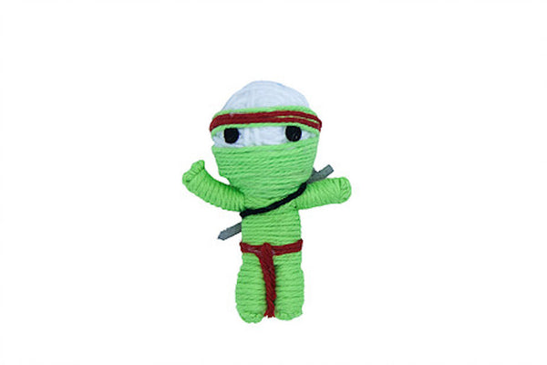 Takeshi the Ninja String Doll Catnip Toy