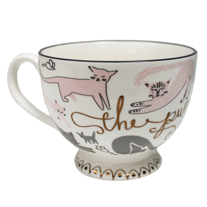 Purrfect Cat Ceramic Coffee Cup