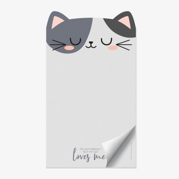 I'm Not Perfect But My Cat Loves Me Cats Notepad