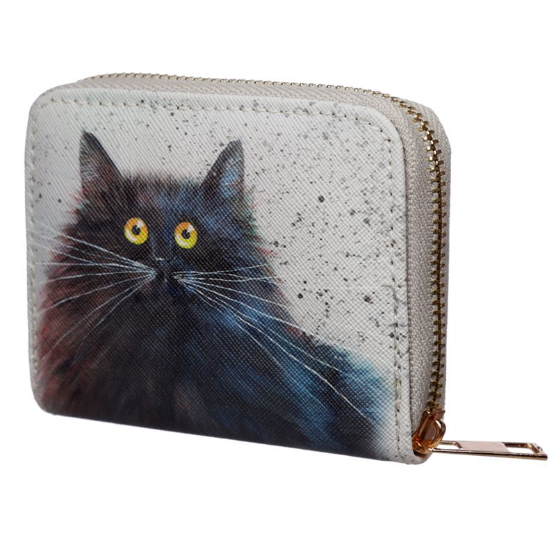 Kim Haskins Herman Black Cat Small Coin Purse