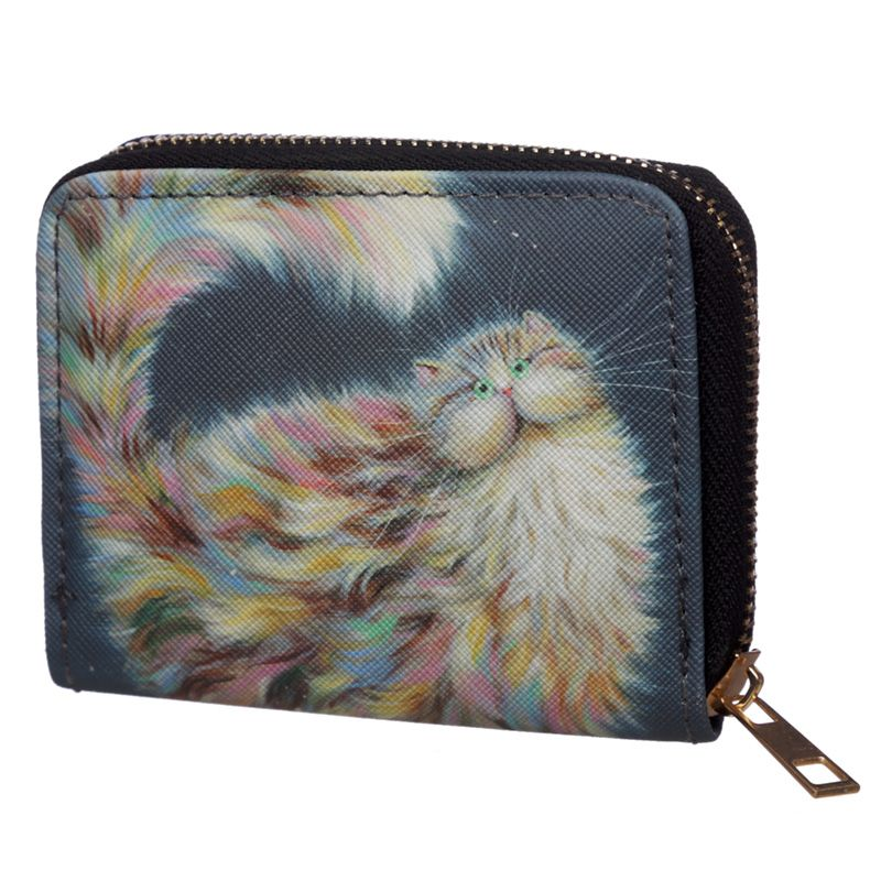 Kim Haskins Patapoufette Rainbow Cat Small Coin Purse
