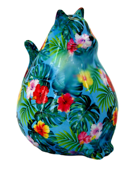 Tropical Ceramic Pomme Pidou Chubby Cat Money Box