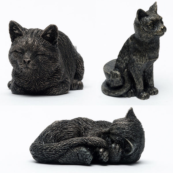 Bronze Colour Cat Design Potty Feet