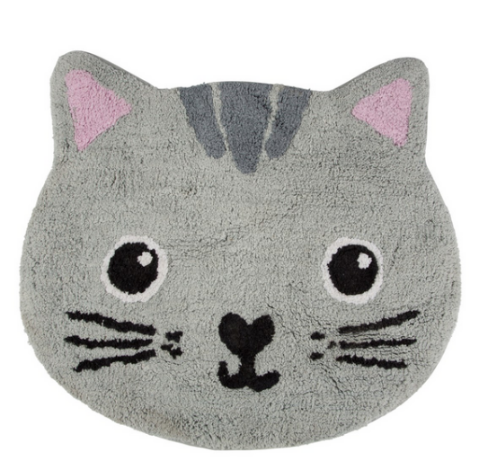 Sass & Belle Nori Cat Kawaii Grey Friends Rug
