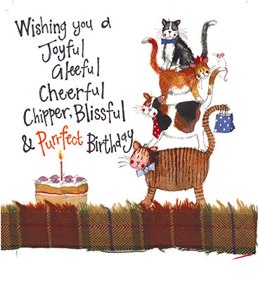 Cat Stack Birthday Card