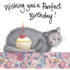 Purrfect Cat Birthday Card