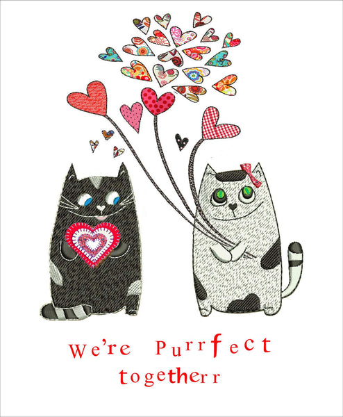 We're Purrfect Cat Greetings Card