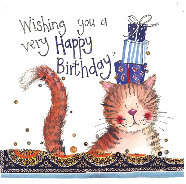 Cat Presents Birthday Card