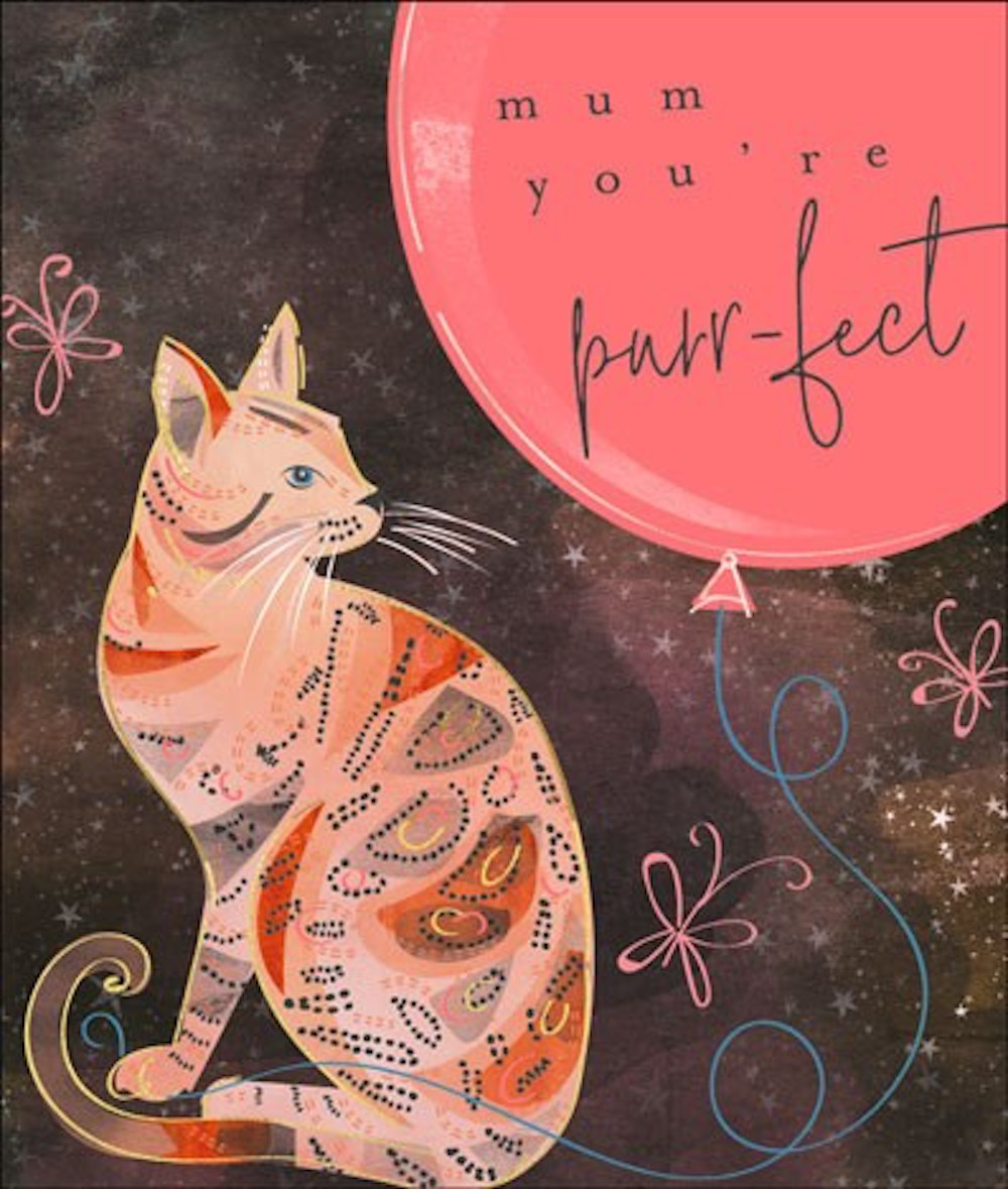 Purrfect Mum Bengal Pussy Cat Mother's Day Card