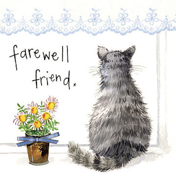 Farewell Cat Card