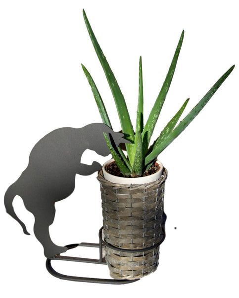 Silhouette Metal Black Cat Planter & Basket