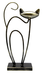 Arched Cat Table Top Metal Ornament