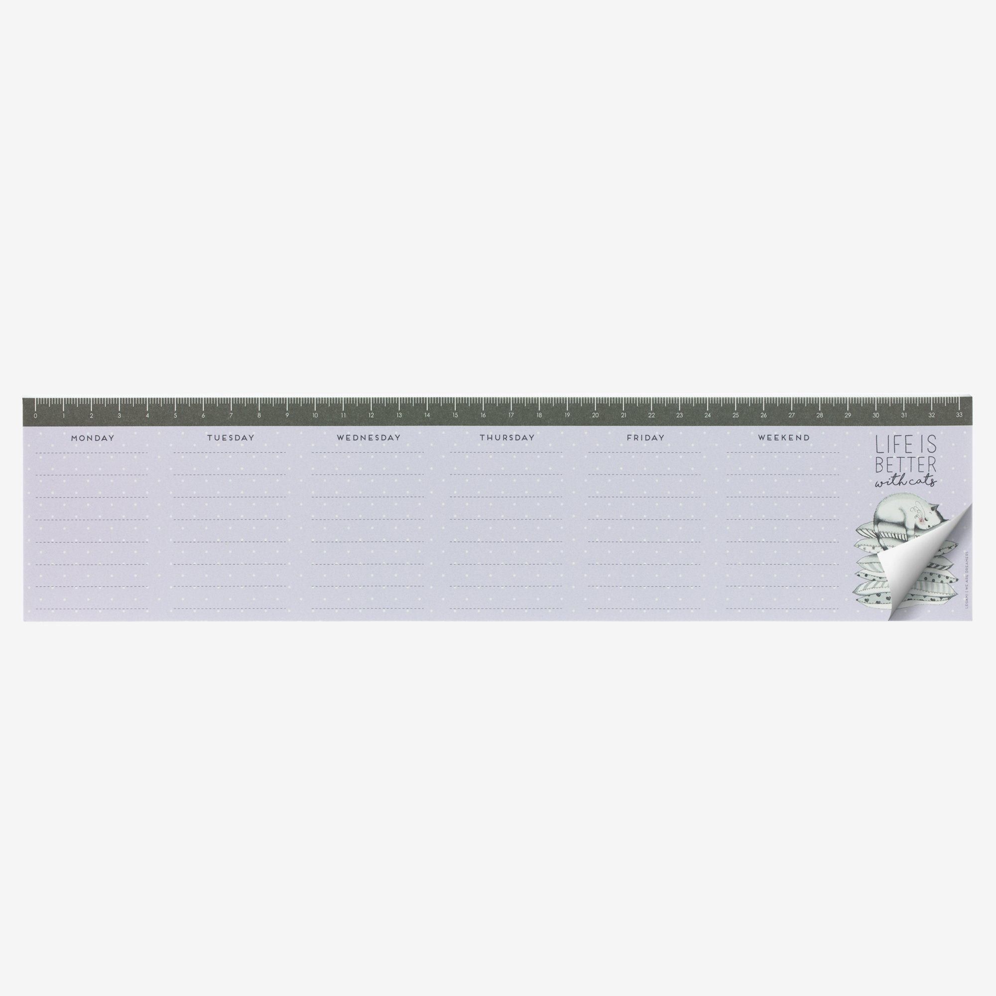 Life is Better with Cats Paper Desk Planner & Ruler