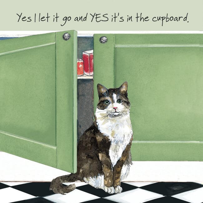 'Let it Go' Cat Greeting Card by Anna Danielle
