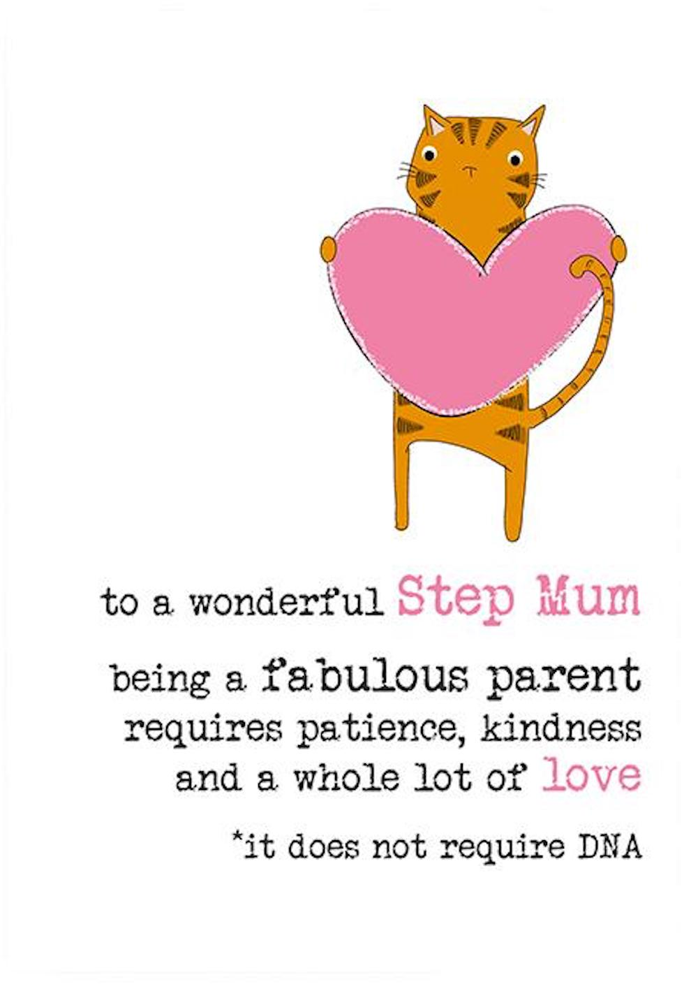 Step Mum DNA Cat Greeting Card
