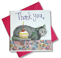 Pack of 8 Thank You Cat Cards