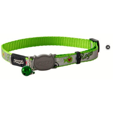 Rogz Green ReflectoCat Collar