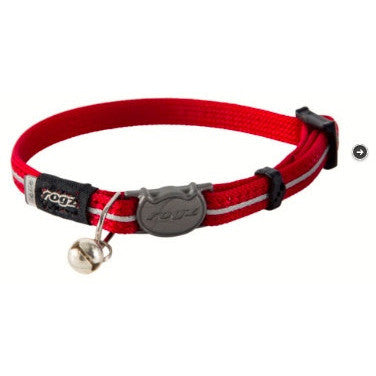 Rogz Reflective Alley Cat Collar - Red