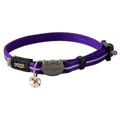 Rogz Reflective Alley Cat Collar - Purple