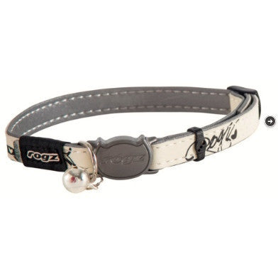 Rogz Black GlowCat Collar
