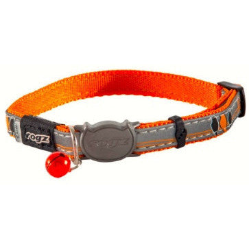 Rogz Orange NightCat Collar