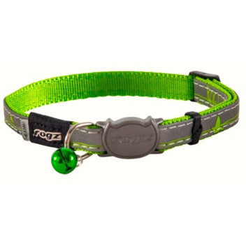 Rogz Lime Green NightCat Collar